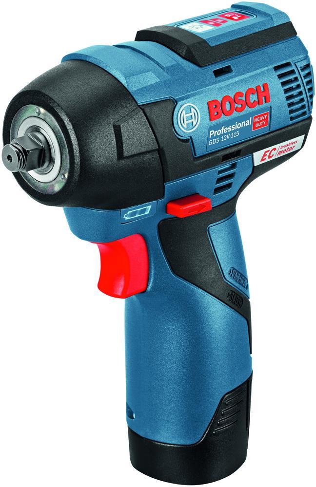 Гайковерт аккумуляторный Bosch Gds 12v-115 гайковерт электрический bosch gds 30 0 601 435 108 ударный
