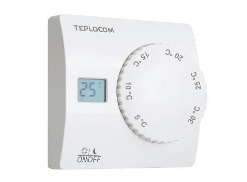Термостат TEPLOCOM TS-2AA/8A белый