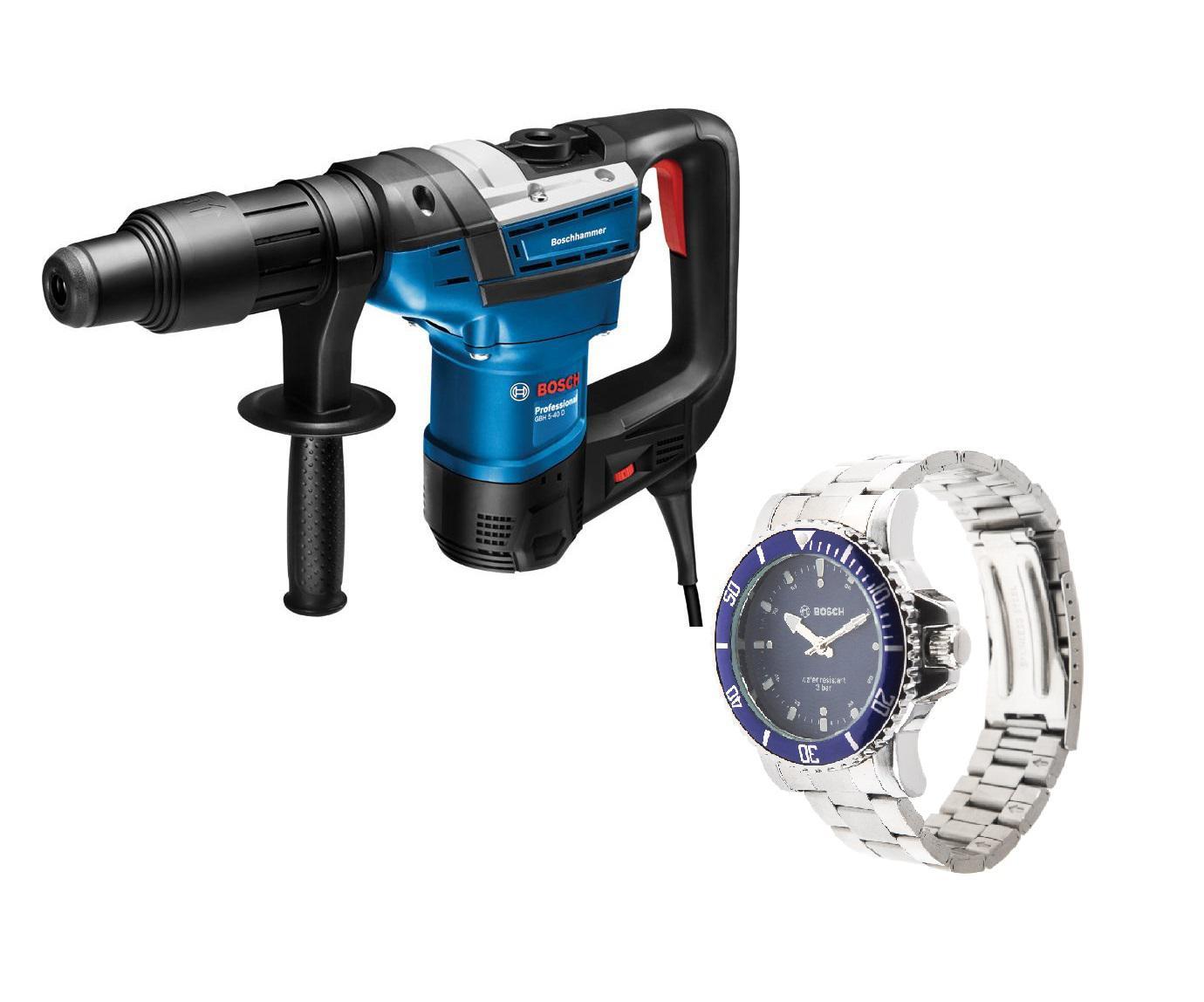 Набор Bosch Перфоратор gbh 5-40 d (0.611.269.020) + Часы аккумуляторный перфоратор bosch gbh 180 li 4 0ач x2 0611911023
