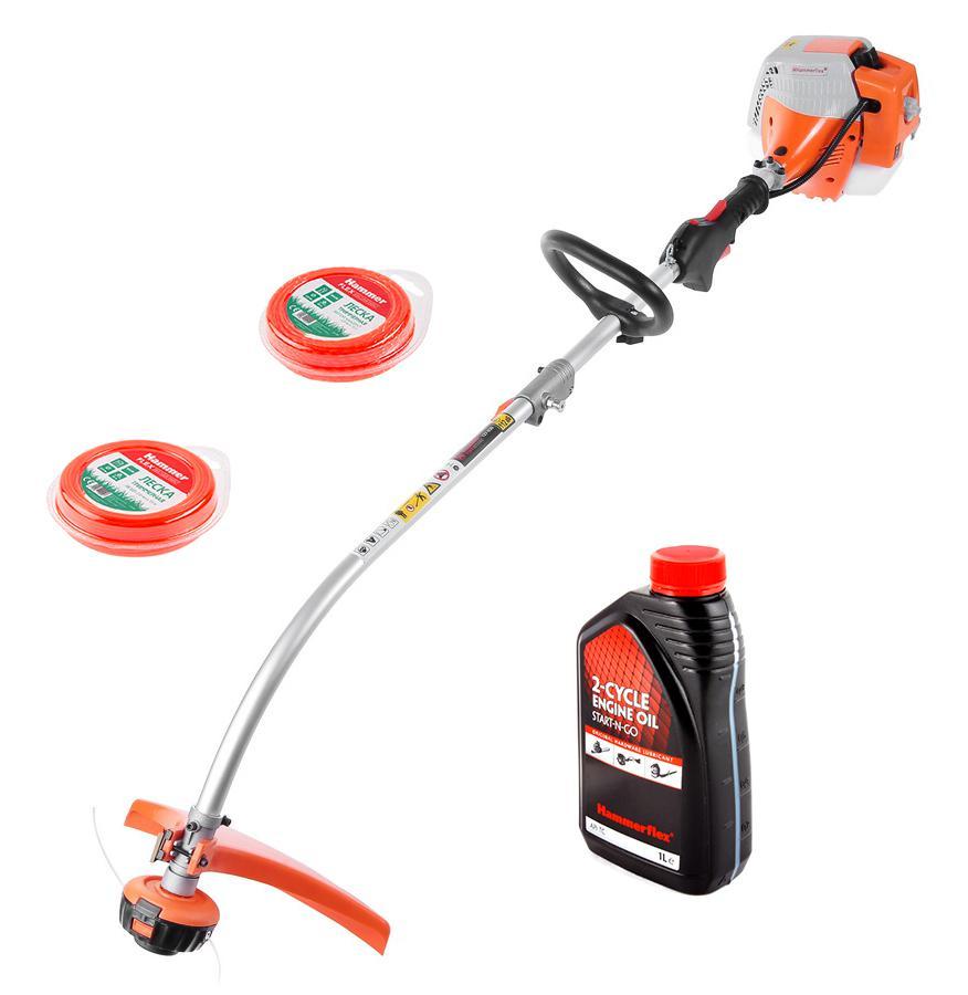 Набор Hammer Мотокоса mtk25b +Леска для триммеров 216-110 круглая 2мм*75м +Масло моторное бензиновое 501-004