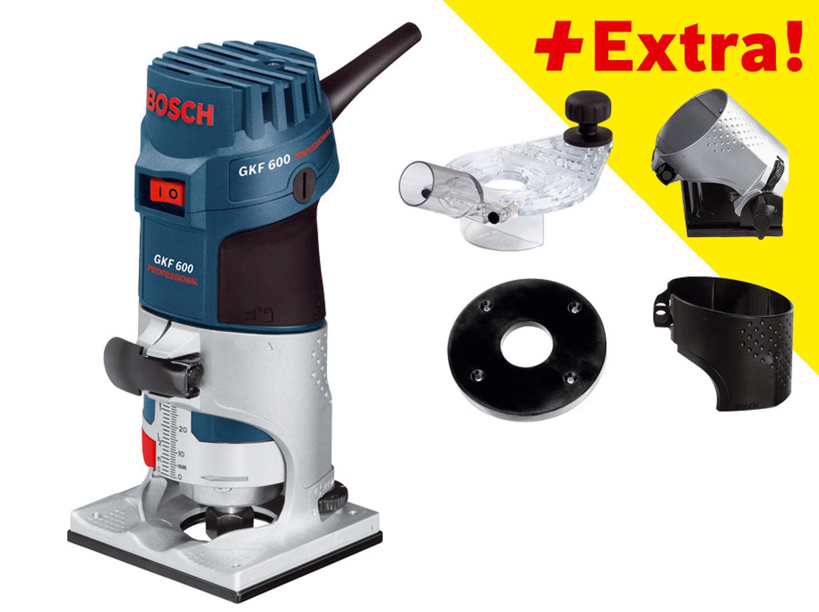 Кромочный фрезер Bosch Gkf 600 + ОСНАСТКА(0.601.60a.101) bosch gkf 600 professional 060160a101