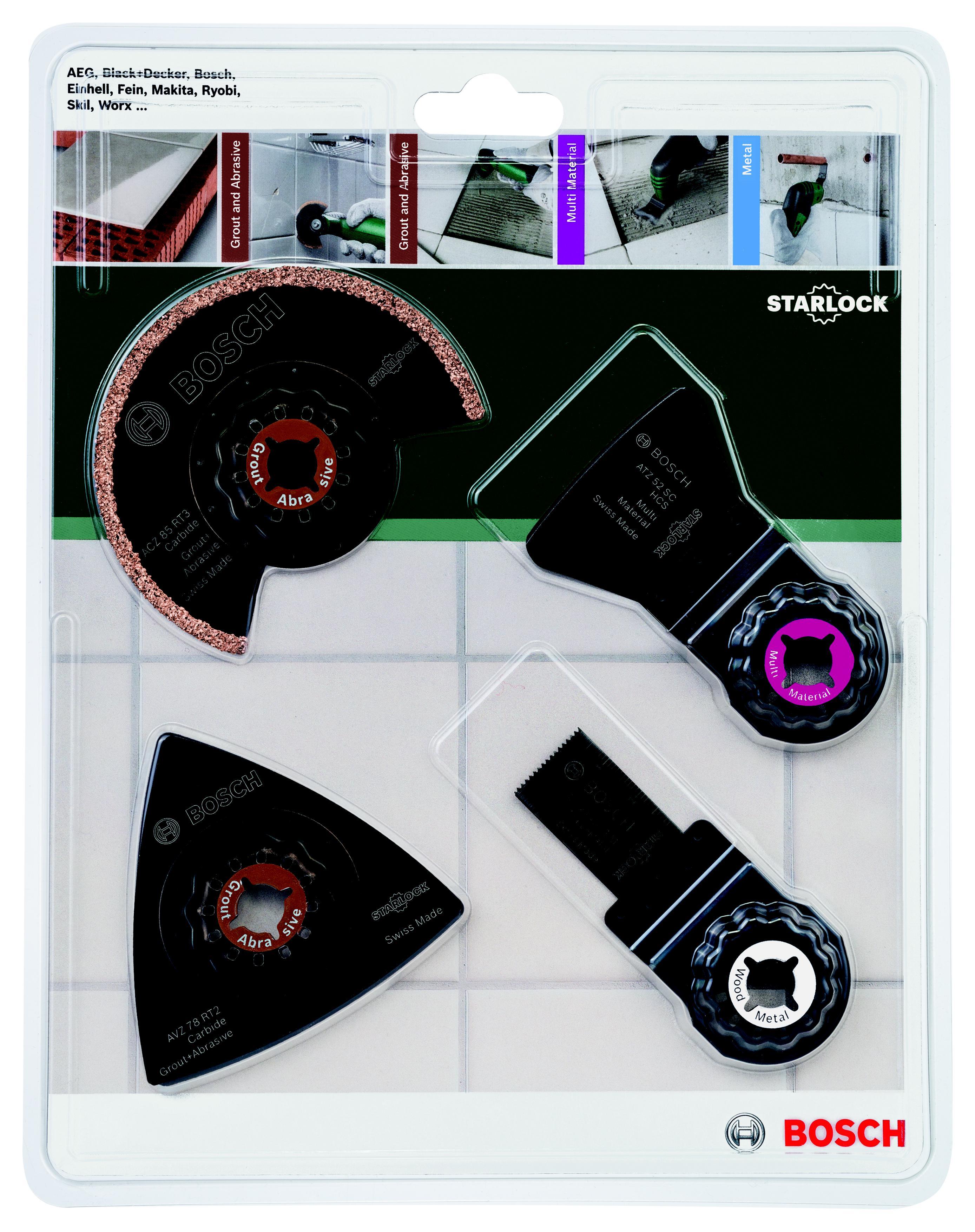 Набор насадок для МФИ Bosch по керамической плитке (2.609.256.978) нож выкидной cla сталь 154cm