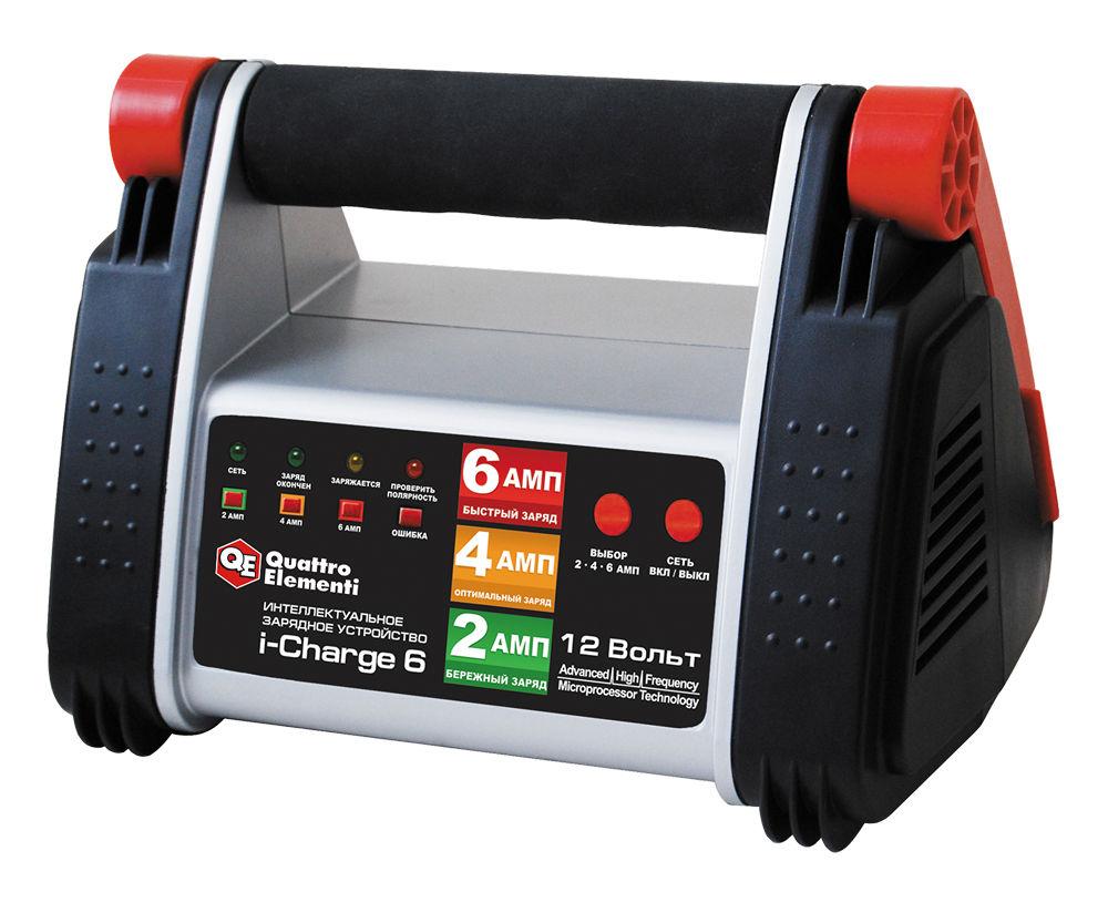 Устройство зарядное Quattro elementi 771-145i-charge6 зарядное устройство для автомобильных аккумуляторов quattro elementi energia 5000 li 641 107