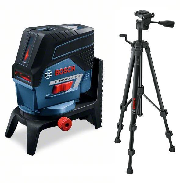 Набор Bosch Уровень gcl 2-50c+rm2+aa1 (0.601.066.g00) +Штатив bt 150 (0.601.096.b00) штанга телескопическая распорная bosch bt 350 0 601 015 b00