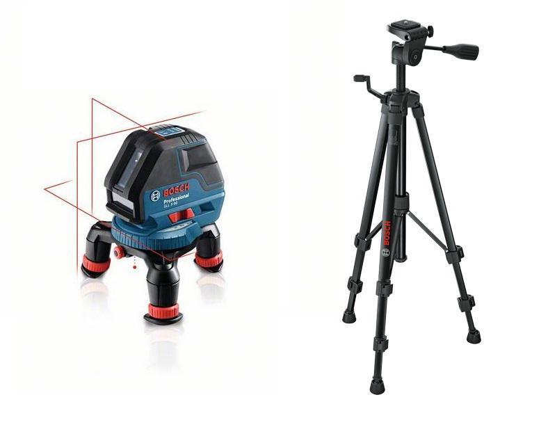 Набор Bosch Уровень gll 3-50 professional (0.601.063.800) +Штатив bt 150 (0.601.096.b00) штанга телескопическая распорная bosch bt 350 0 601 015 b00