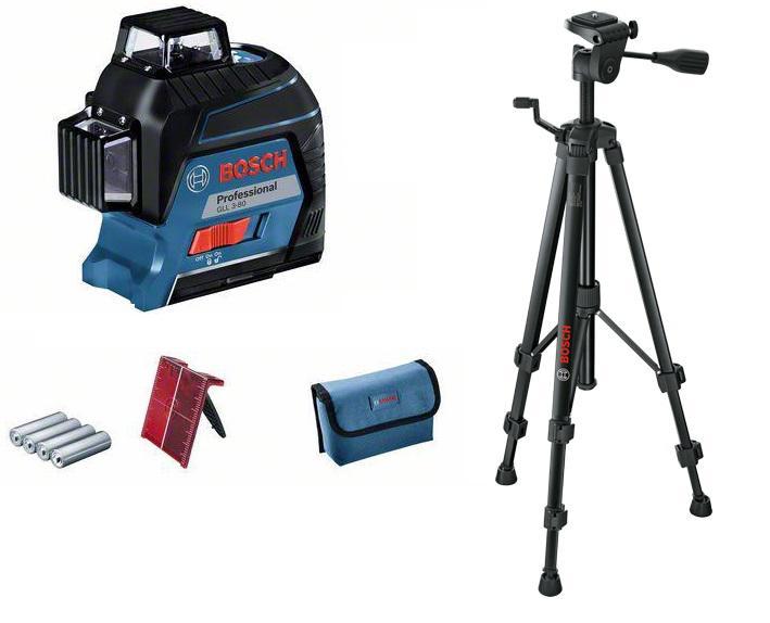 Набор Bosch Уровень gll 3-80c+bm1+12v+l-boxx (0.601.063.r02) +Штатив bt 150 (0.601.096.b00)