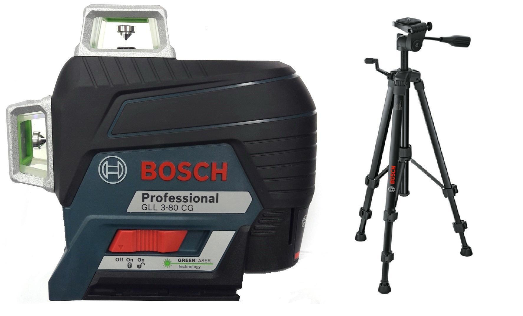 Набор Bosch Уровень gll 3-80cg+bm1+12v+l-boxx (0.601.063.t00) +Штатив bt 150 (0.601.096.b00) аккумуляторная дрель шуруповерт bosch gsr 12v 15 fc 2 0ah x2 l boxx 06019f6000