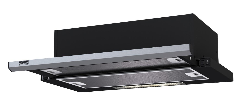 Вытяжка Kronasteel Slim 600 black/inox kamilla 20960