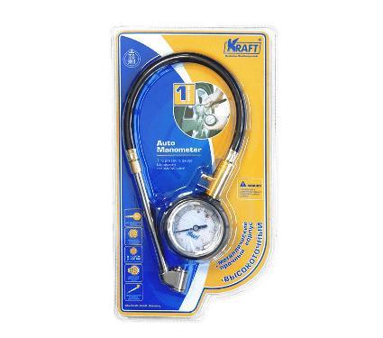 Аналоговый манометр со шлангом KRAFT KT 830003