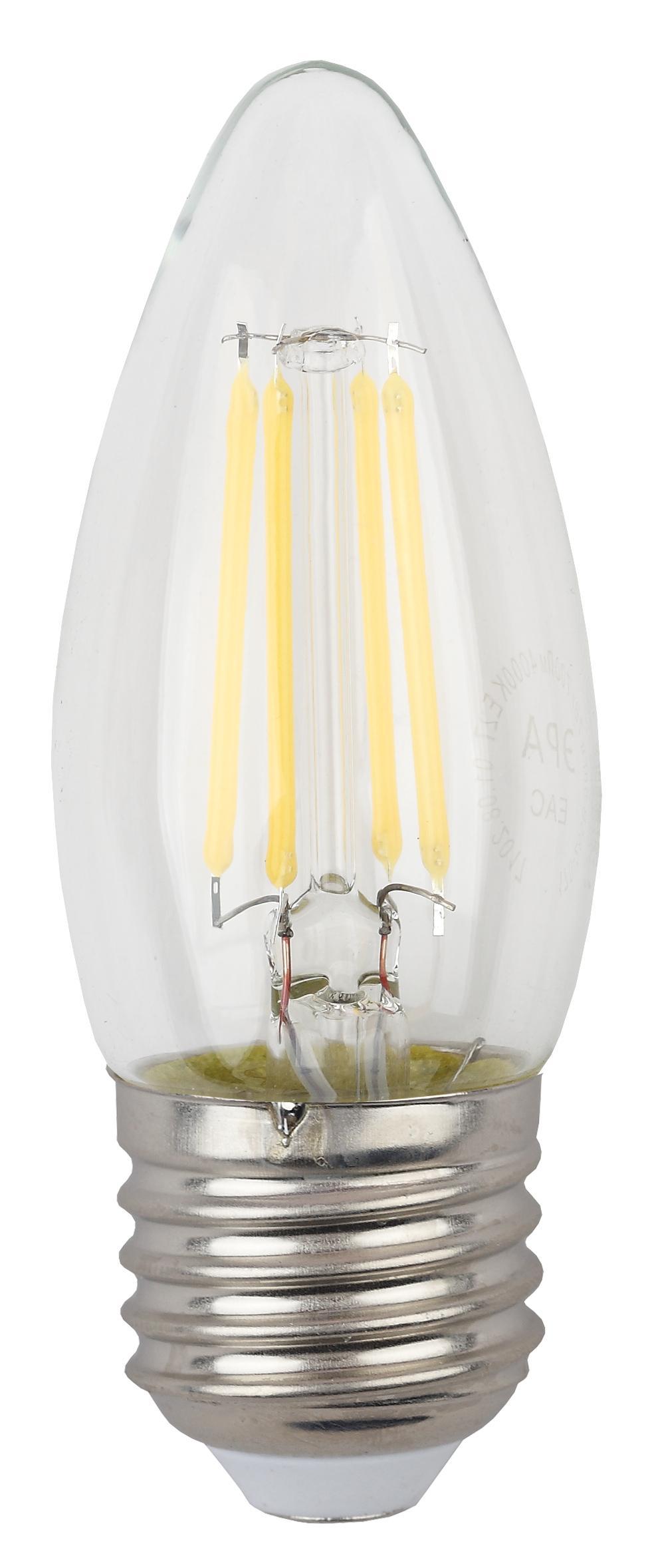 Лампа светодиодная ЭРА F-led b35-5w-840-e27