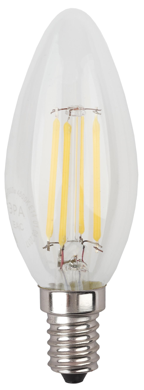Лампа светодиодная ЭРА F-led b35-7w-840-e14 лампа светодиодная эра led smd bxs 7w 840 e14 clear