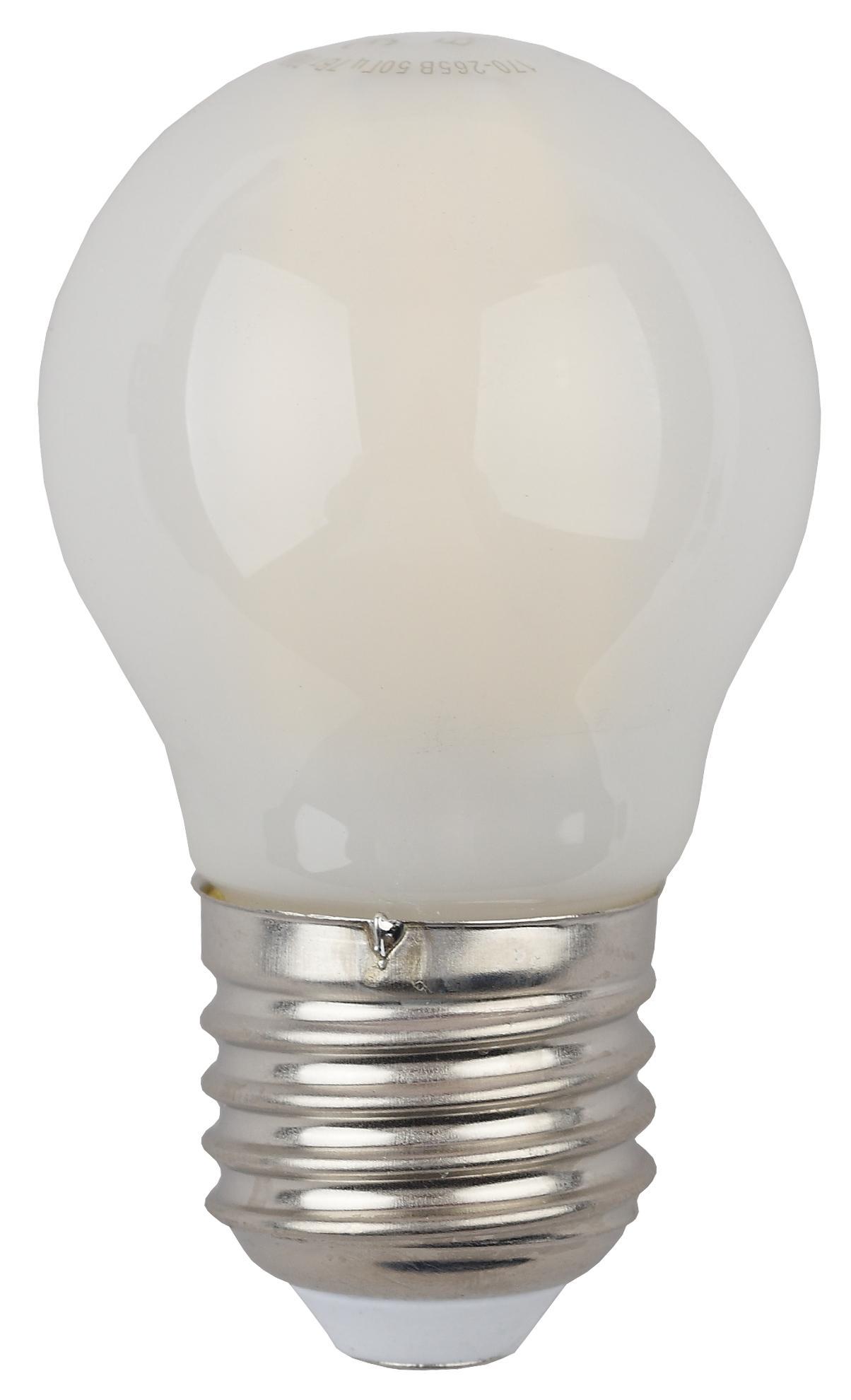Лампа светодиодная ЭРА F-led p45-5w-827-e27 frozed эра f led p45 e27 5w 230v белый свет