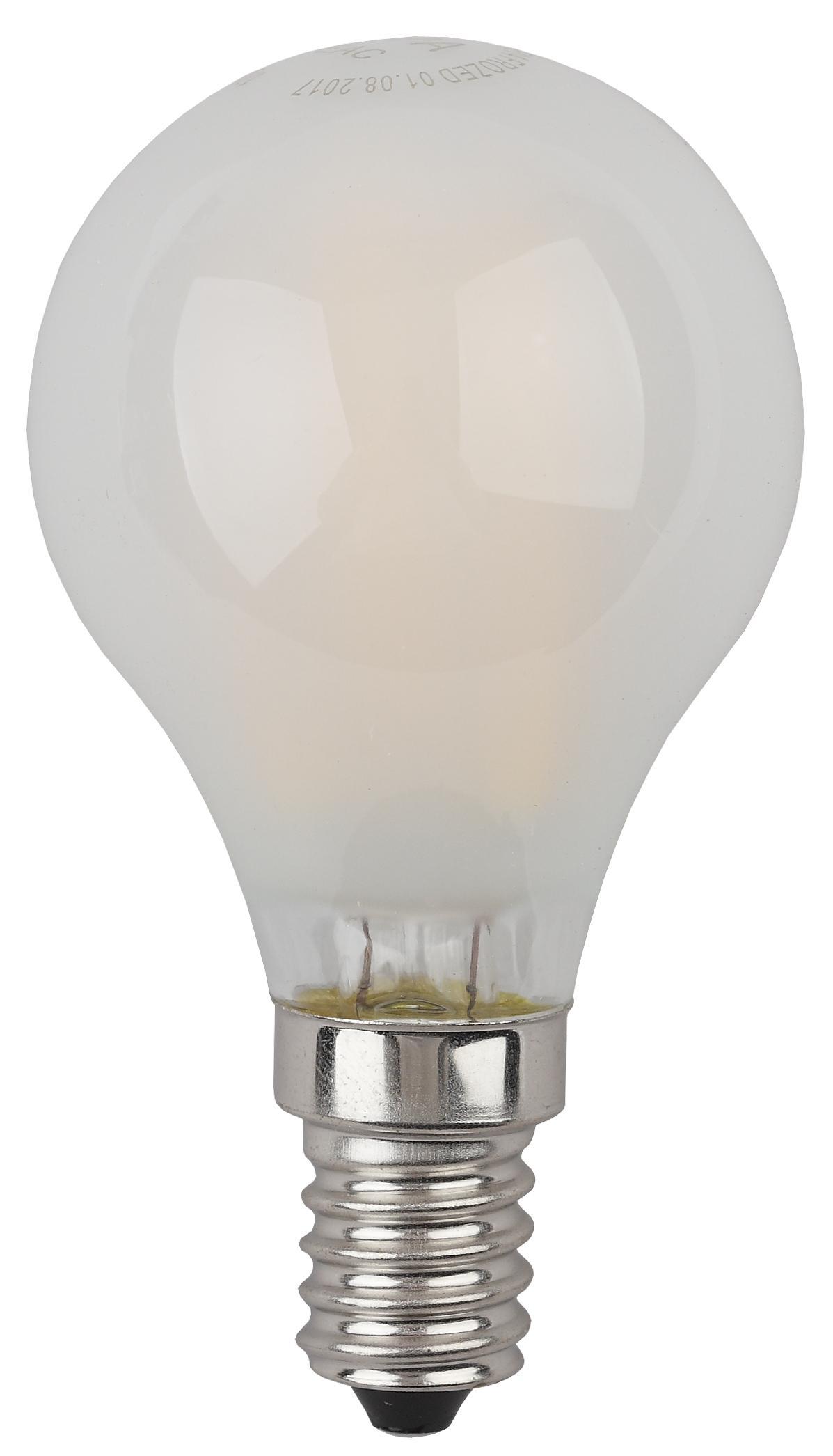 Лампа светодиодная ЭРА F-led p45-5w-840-e14 frozed