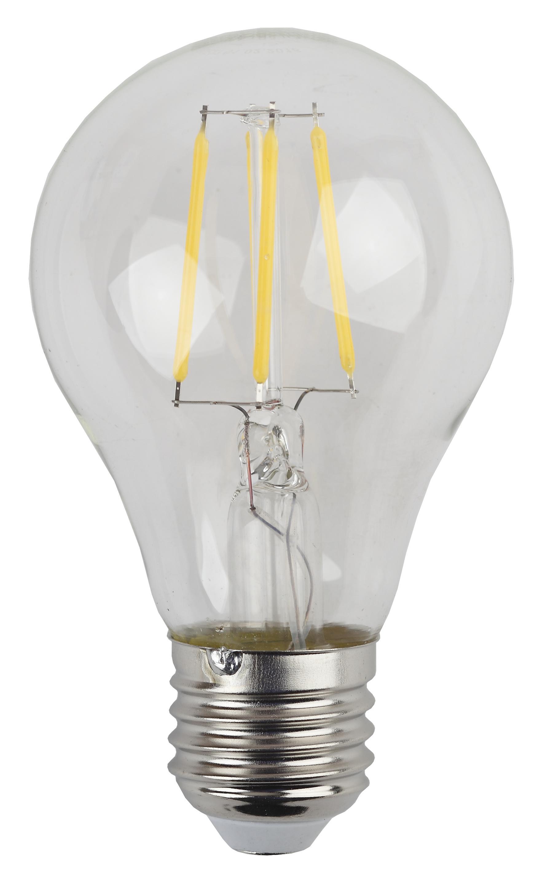 Лампа светодиодная ЭРА F-led А60-5w-827-e27