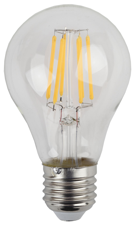 Лампа светодиодная ЭРА F-led А60-7w-827-e27 эра f led p45 e27 5w 230v желтый свет
