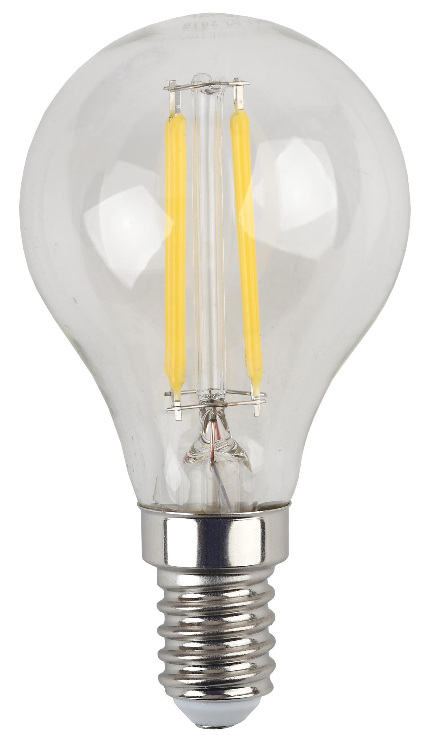 Лампа светодиодная ЭРА F-led Р45-5w-840-e14
