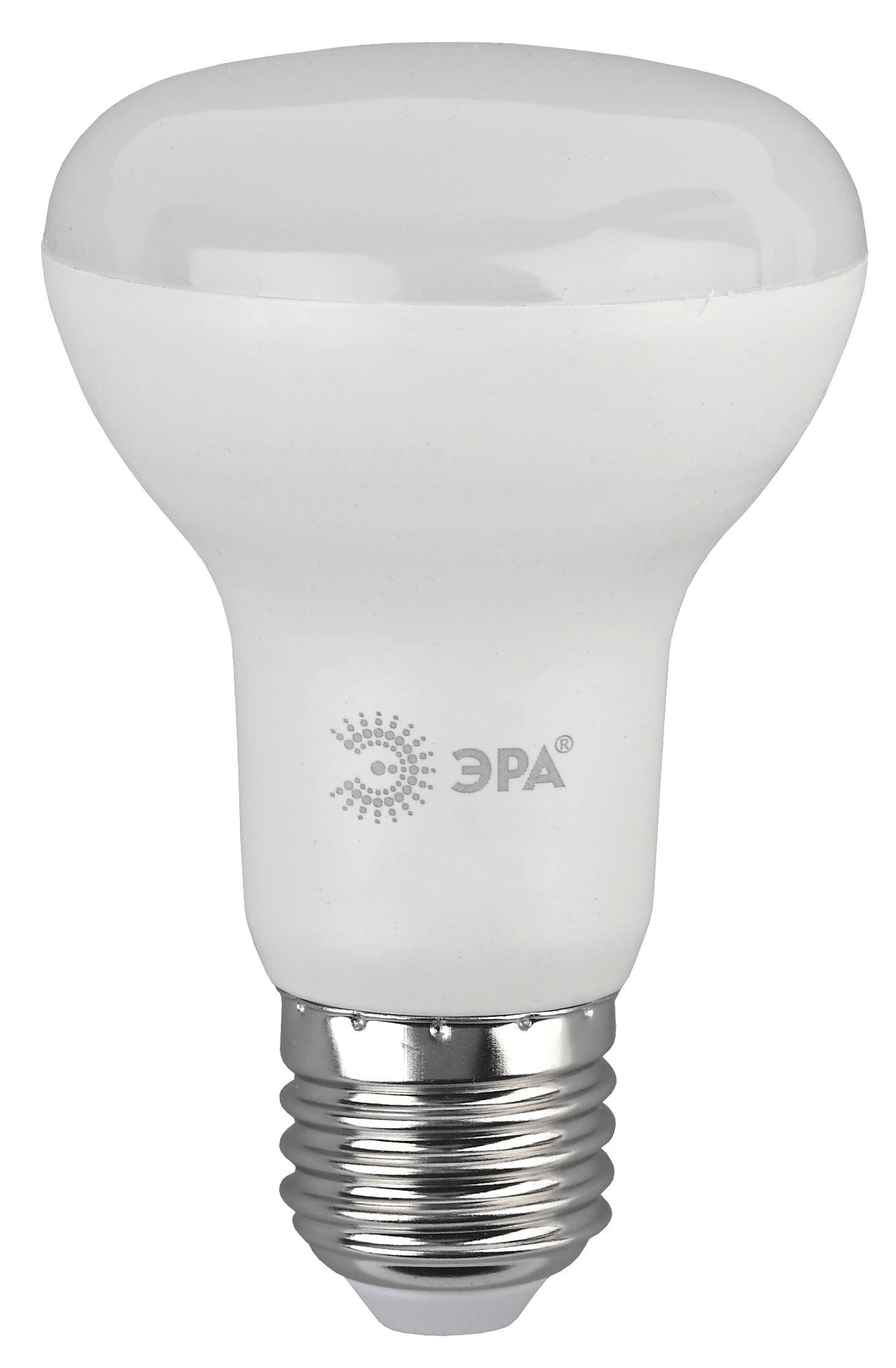 Лампа светодиодная ЭРА Led smd r63-8w-827-e27 эра r63 e27 8w 230v желтый свет