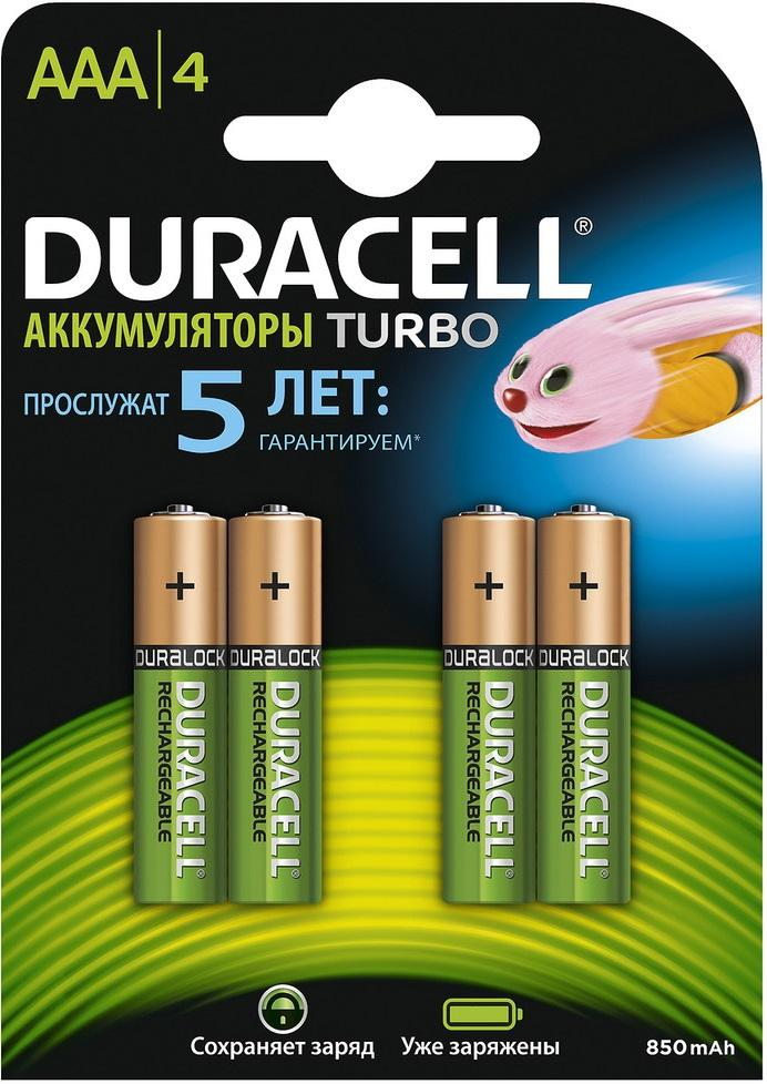 Аккумулятор Duracell Hr03-4bl Б0014861 duracell cef14 4 hour charger