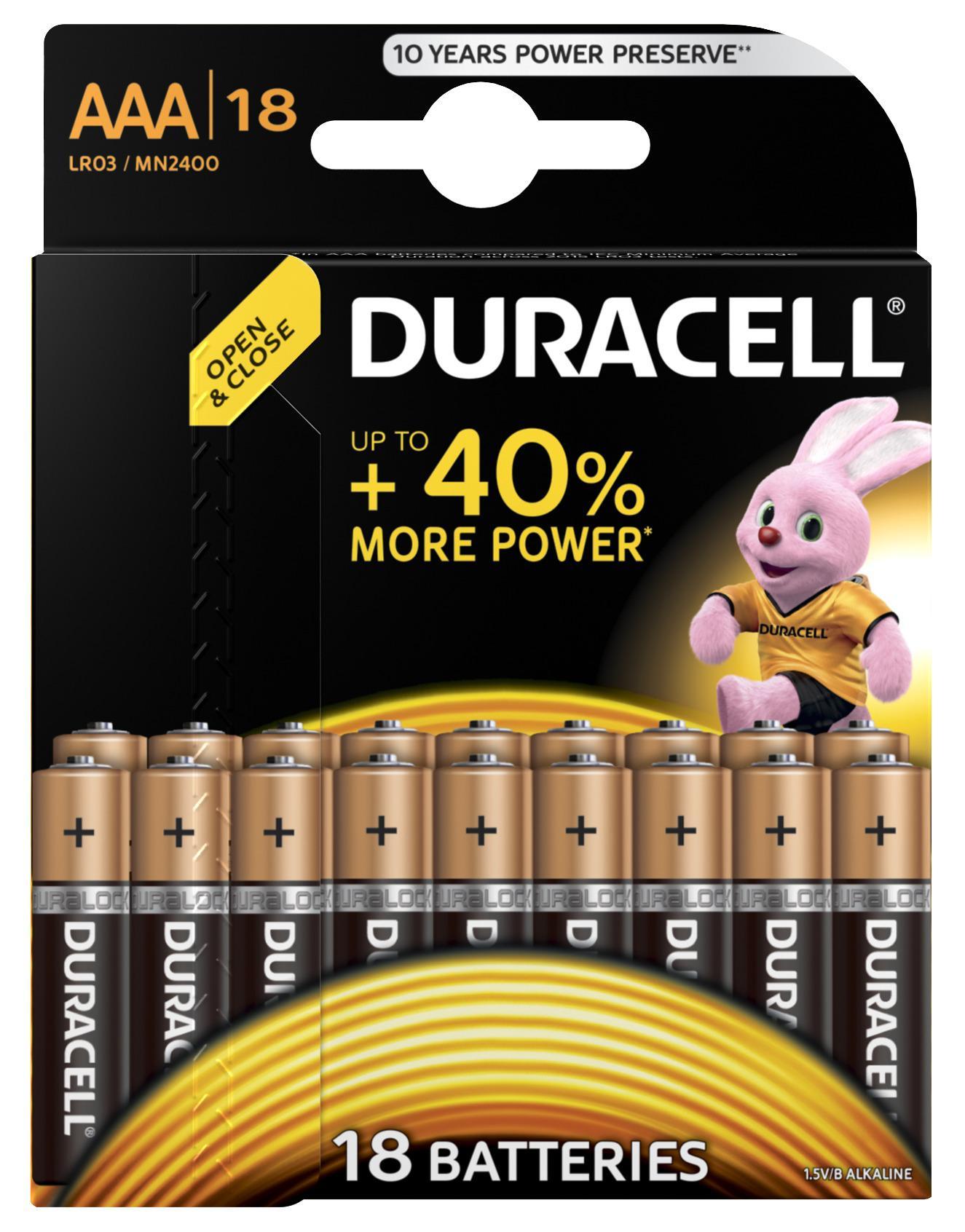 Батарейка Duracell Lr03-18bl basic Б0014449