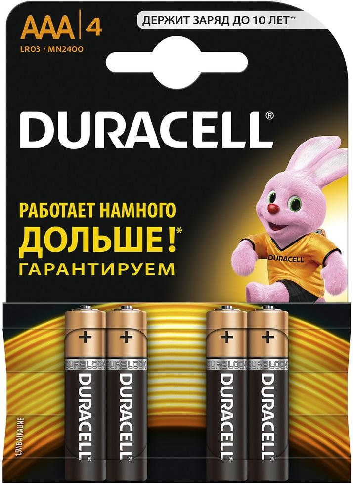 Батарейка Duracell Lr03-4bl basic Б0014046 duracell cef14 4 hour charger