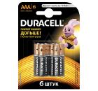 Батарейка DURACELL LR03-6BL BASIC Б0014858
