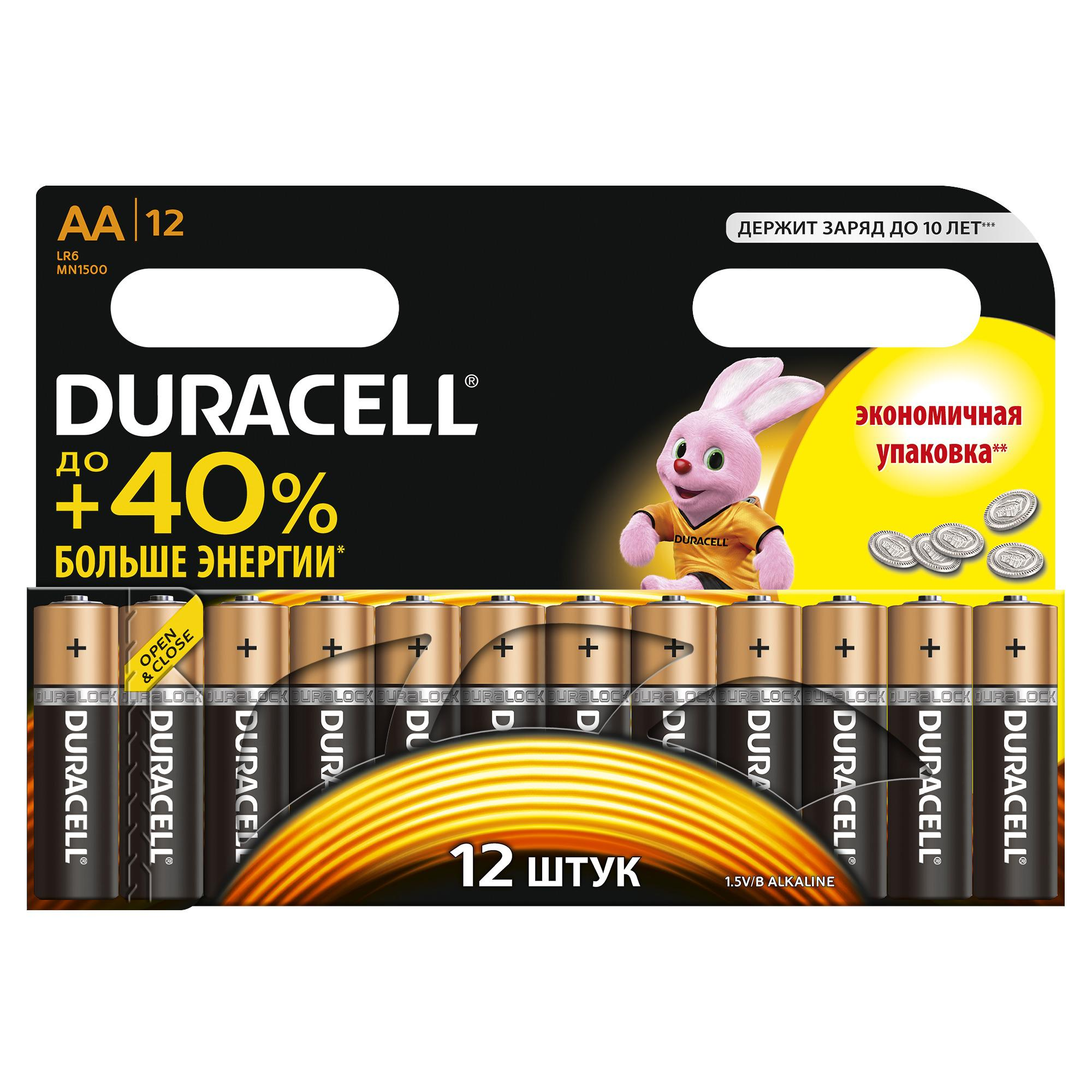 Батарейка Duracell Lr6-12bl basic c0037388 duracell lr6 2bl turbo 2шт aa