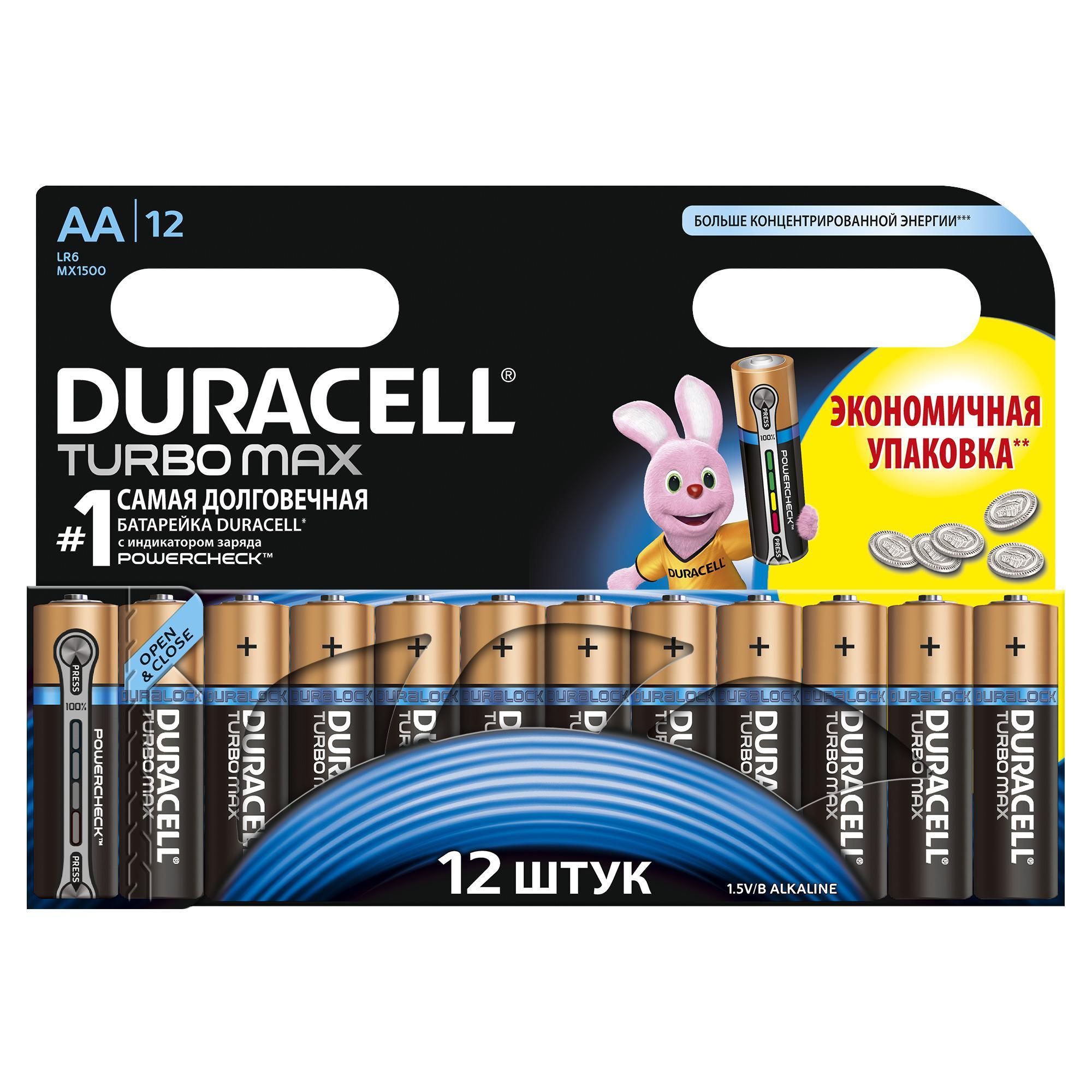 Батарейка Duracell Lr6-12bl turbo Б0002029
