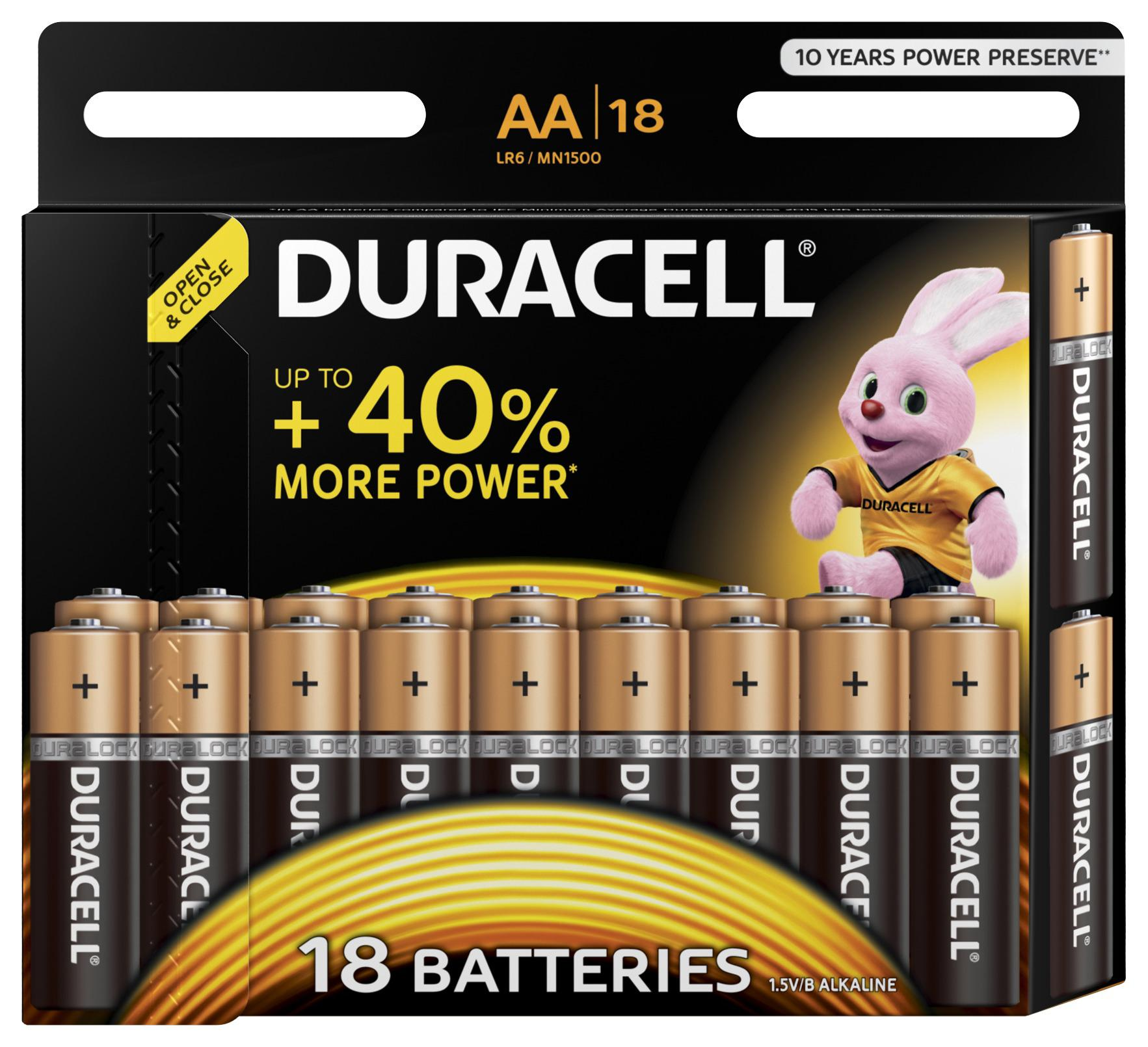 Фото - Батарейка Duracell Lr6-18bl basic Б0014448 Тип: aa (lr6) (Кол-во в уп. 18шт.) аккумулятор fenix arb l18 2900 тип aa lr6 кол во в уп 1шт