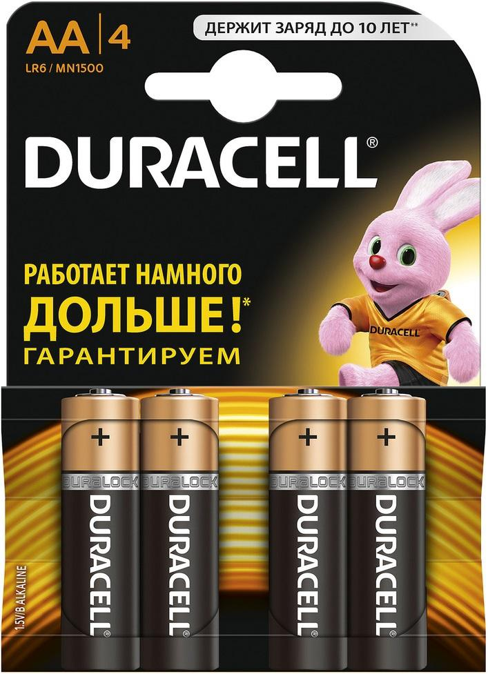 Батарейка Duracell Lr6-4bl basic Б0014045 duracell cef14 4 hour charger