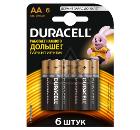 Батарейка DURACELL LR6-6BL BASIC Б0014859