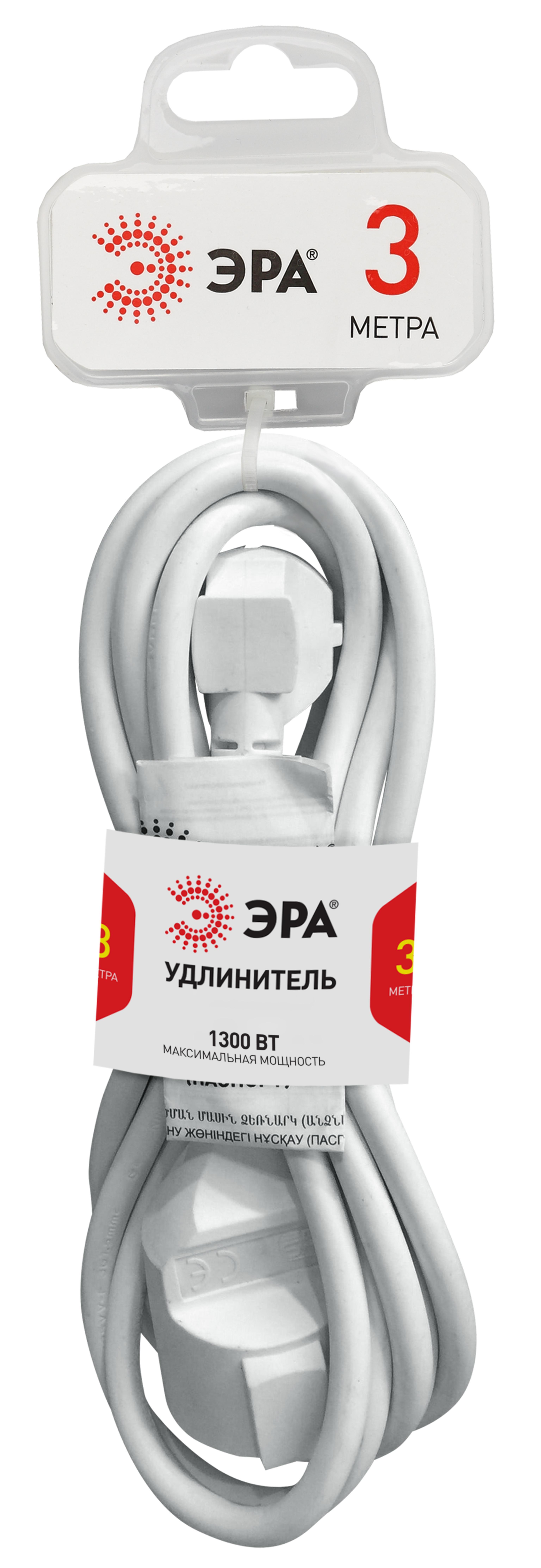 Удлинитель ЭРА U-1-3m Б0026327