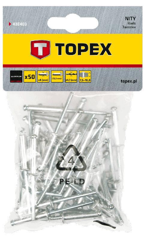 Заклепки Topex 43e403  - Купить