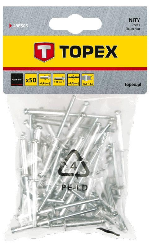 Купить Заклепки Topex 43e505