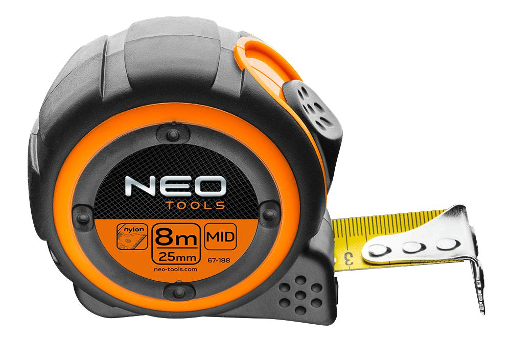 Рулетка Neo 67-188 стальная рулетка neo 67 173
