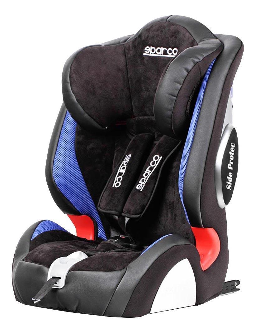Кресло детское автомобильное Sparco F1000ki bl sparco детское кресло sparco f 1000k группы 1 2 3 9 36 кг 9 мес 12 лет полиэстер объёмная сетчат