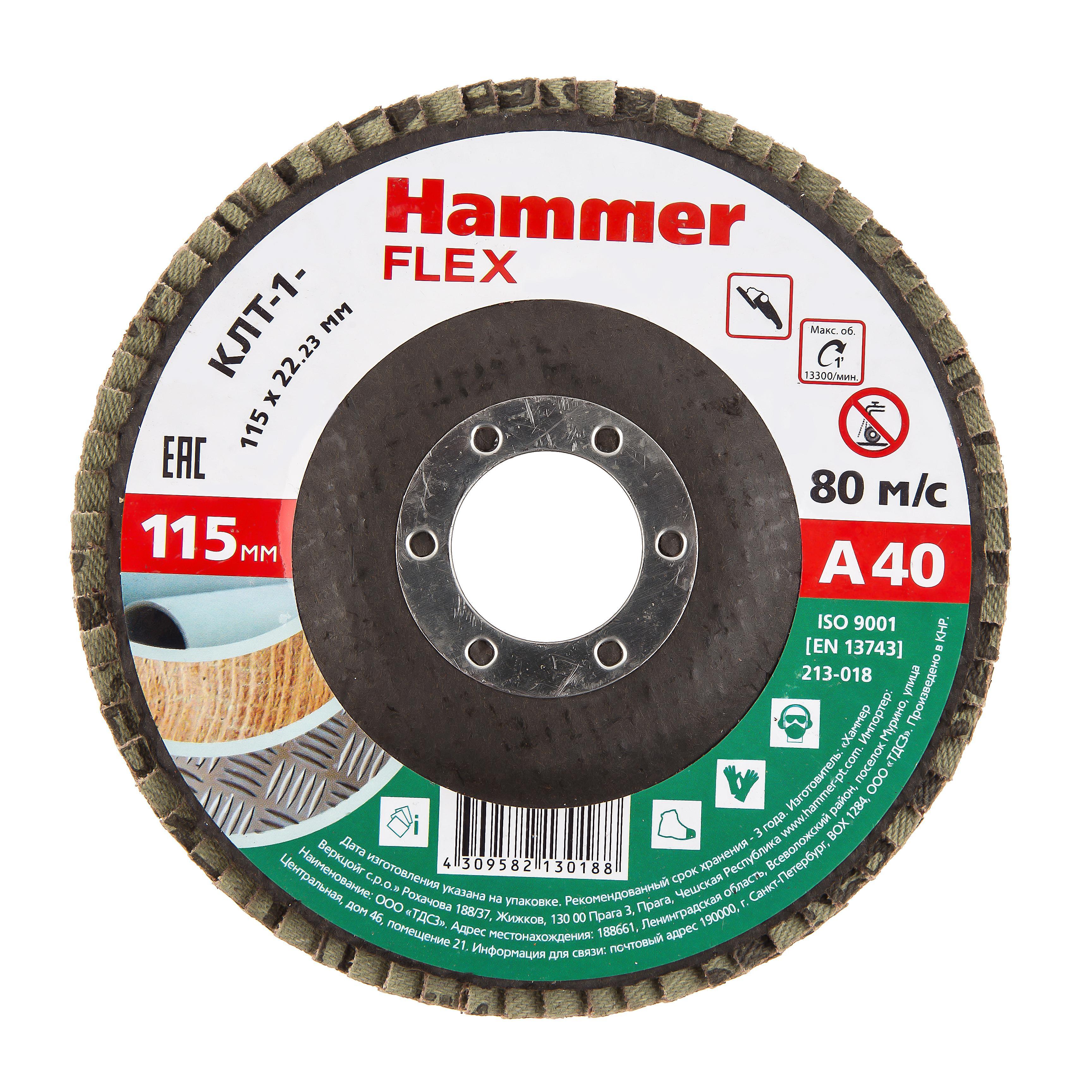 Купить Круг Лепестковый Торцевой (КЛТ) Hammer 213-018