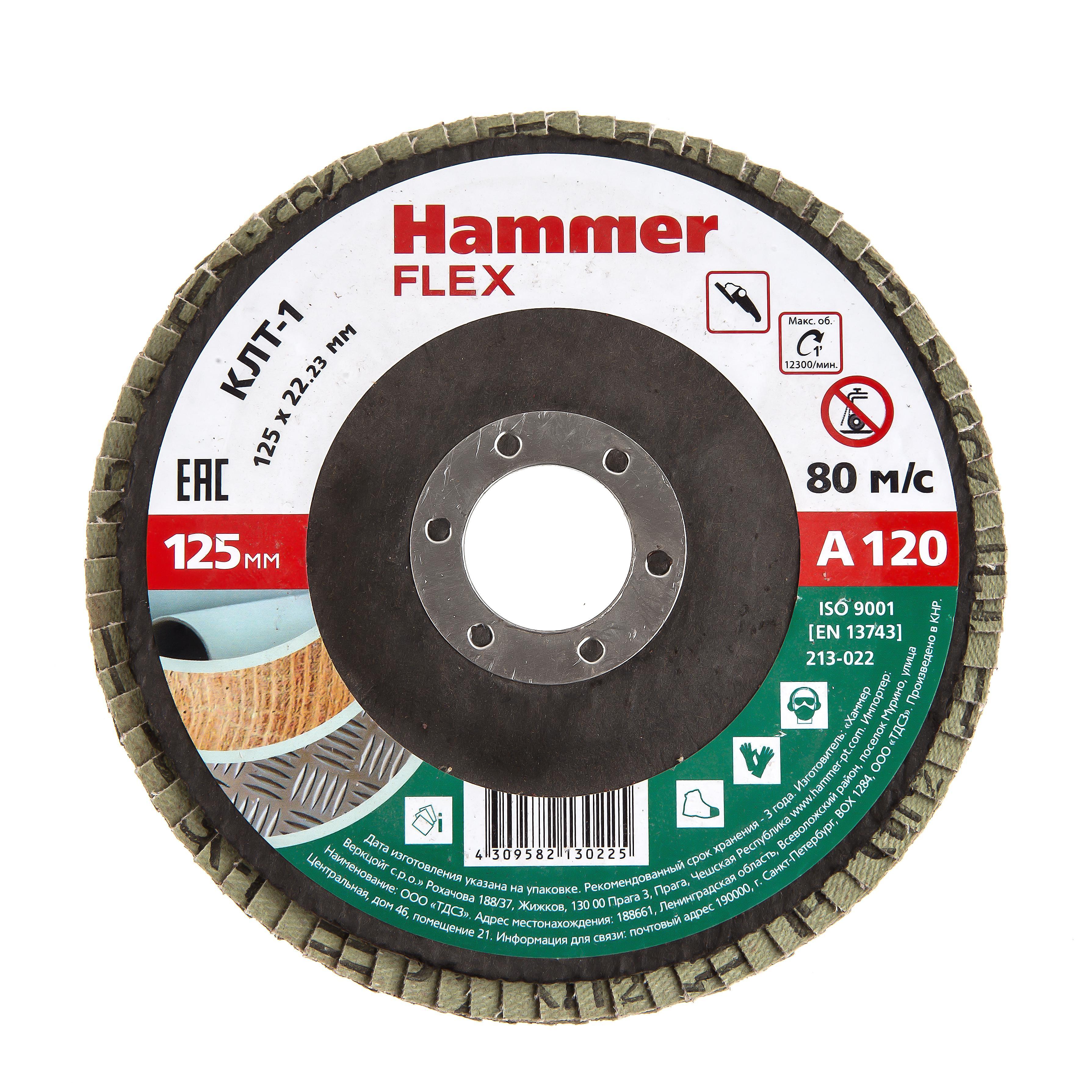 Купить Круг Лепестковый Торцевой (КЛТ) Hammer 213-022
