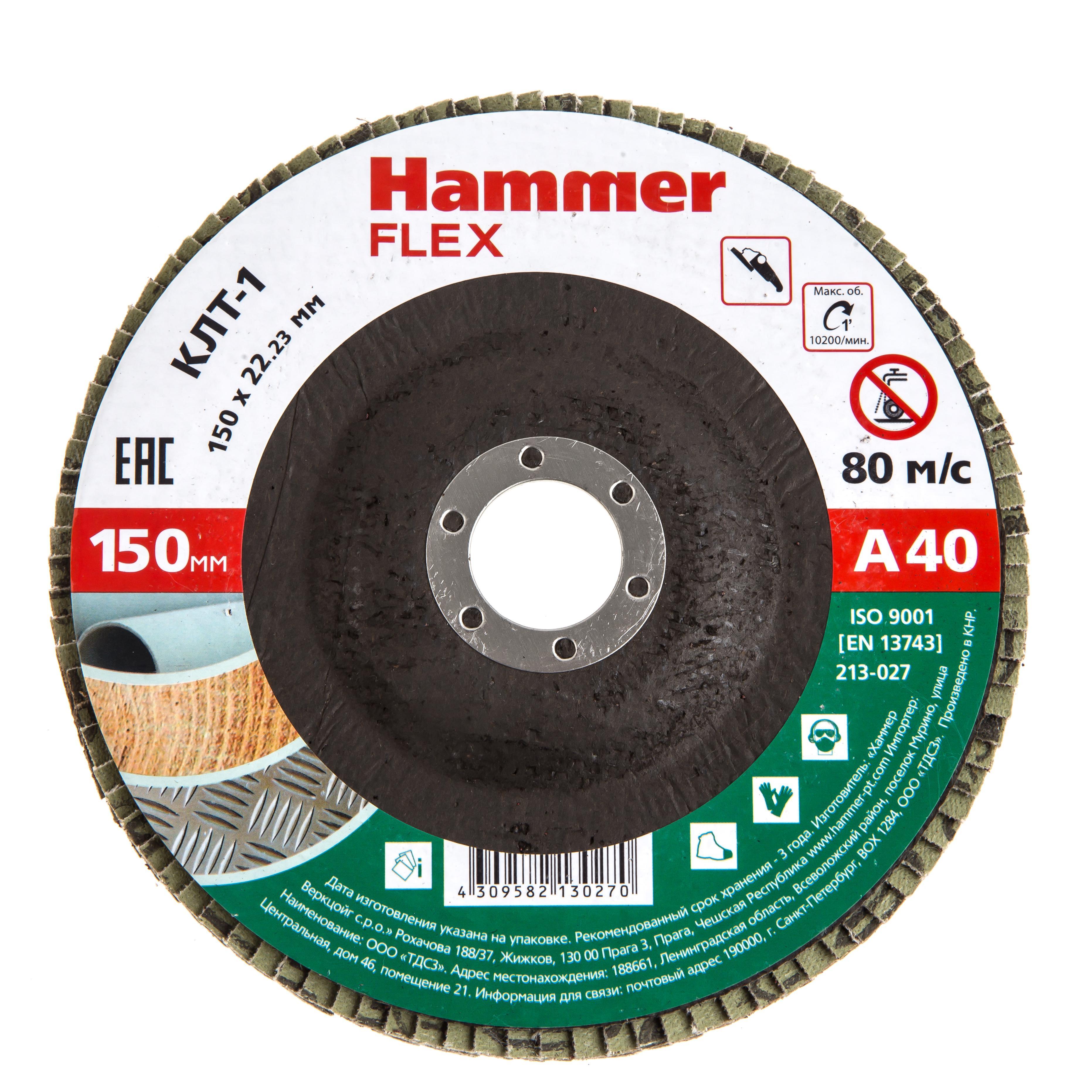 Купить Круг Лепестковый Торцевой (КЛТ) Hammer 213-027