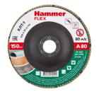 Круг Лепестковый Торцевой (КЛТ) HAMMER Ф150х22 P80