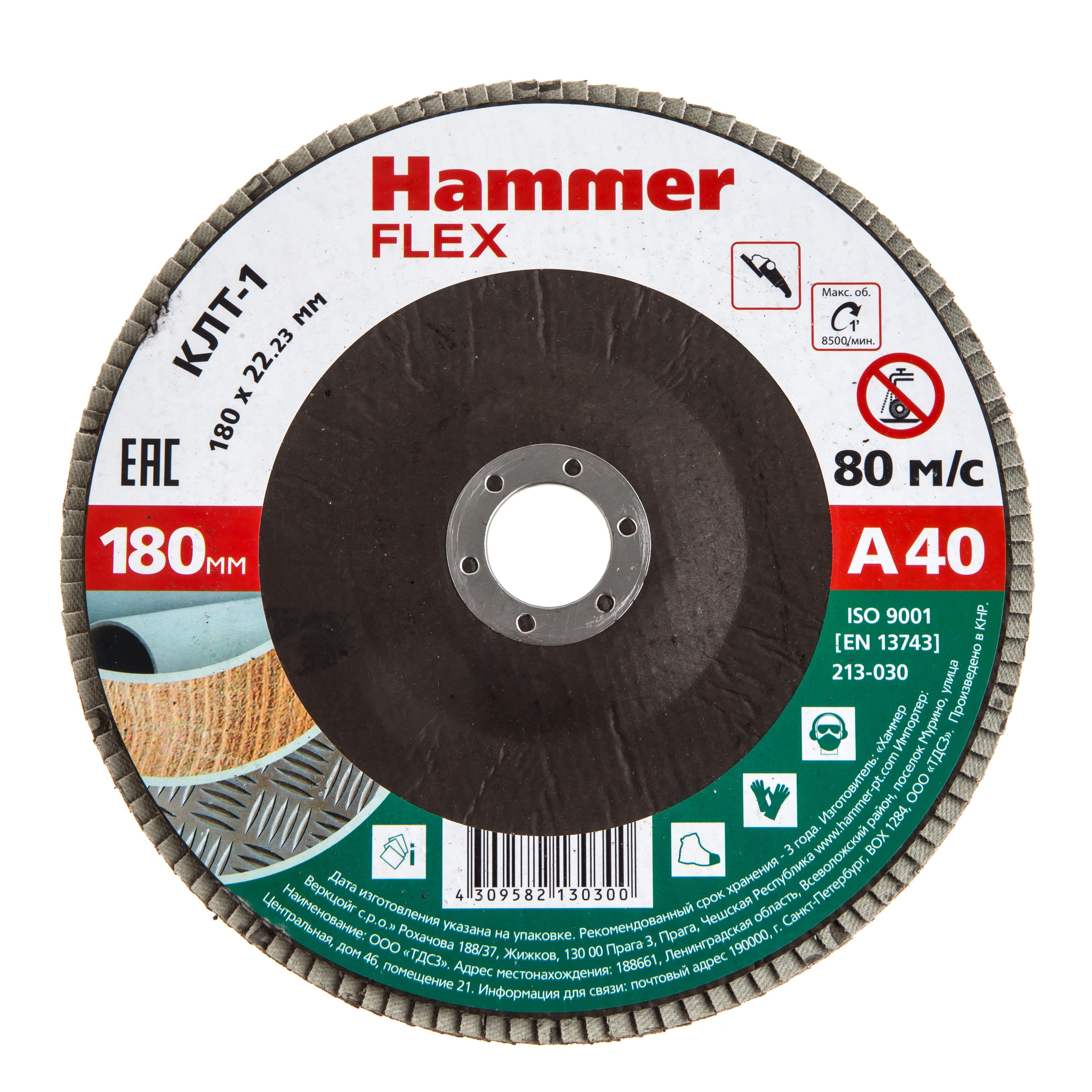 Купить Круг Лепестковый Торцевой (КЛТ) Hammer 213-030