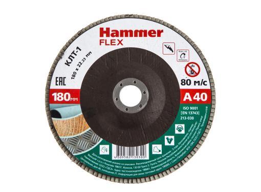 Круг Лепестковый Торцевой (КЛТ) HAMMER Ф180х22