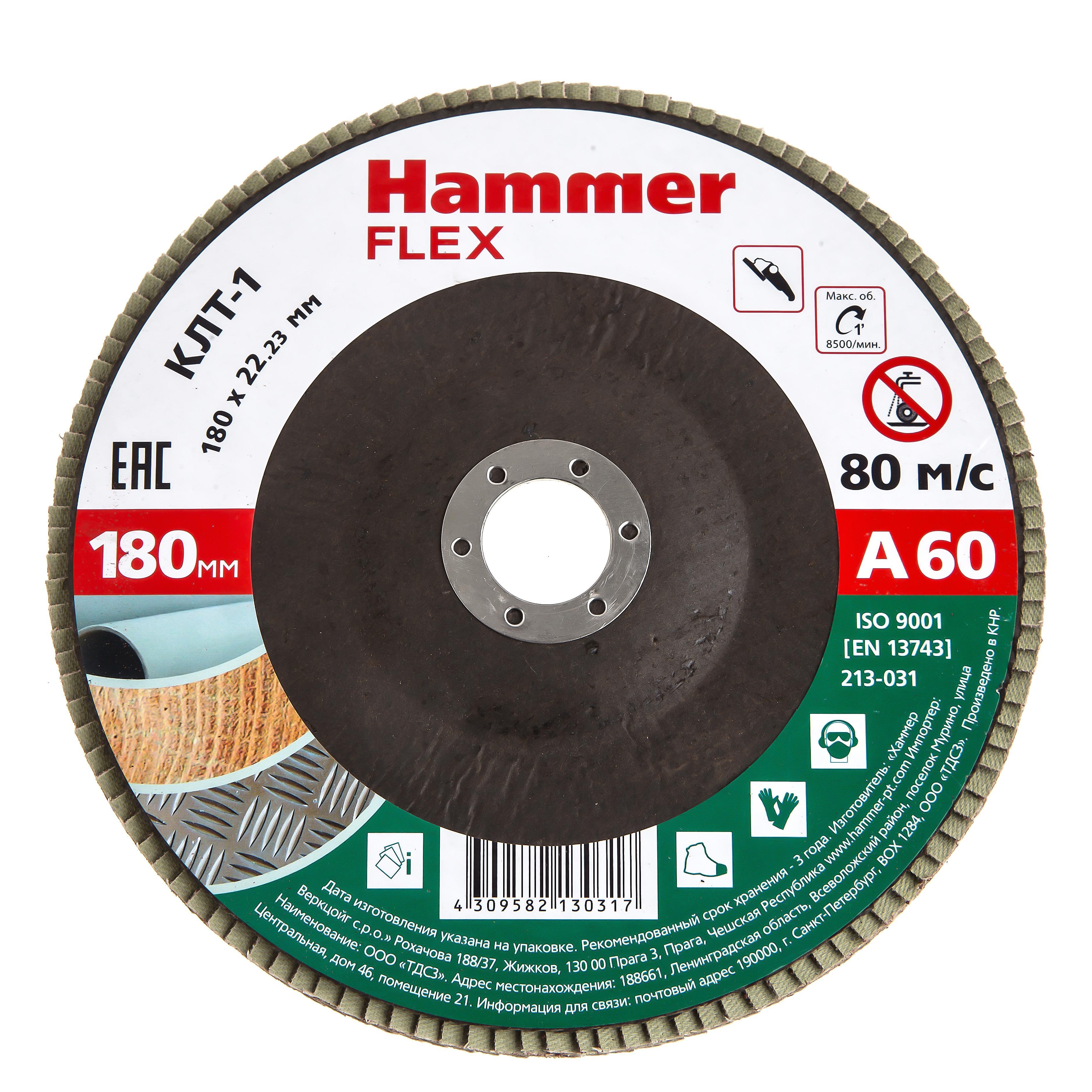 Купить Круг Лепестковый Торцевой (КЛТ) Hammer 213-031