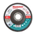 Круг Лепестковый Торцевой (КЛТ) HAMMER Ф125х22 P120