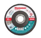 Круг Лепестковый Торцевой (КЛТ) HAMMER Ф125х22 P60