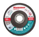 Круг Лепестковый Торцевой (КЛТ) HAMMER Ф125х22 P80
