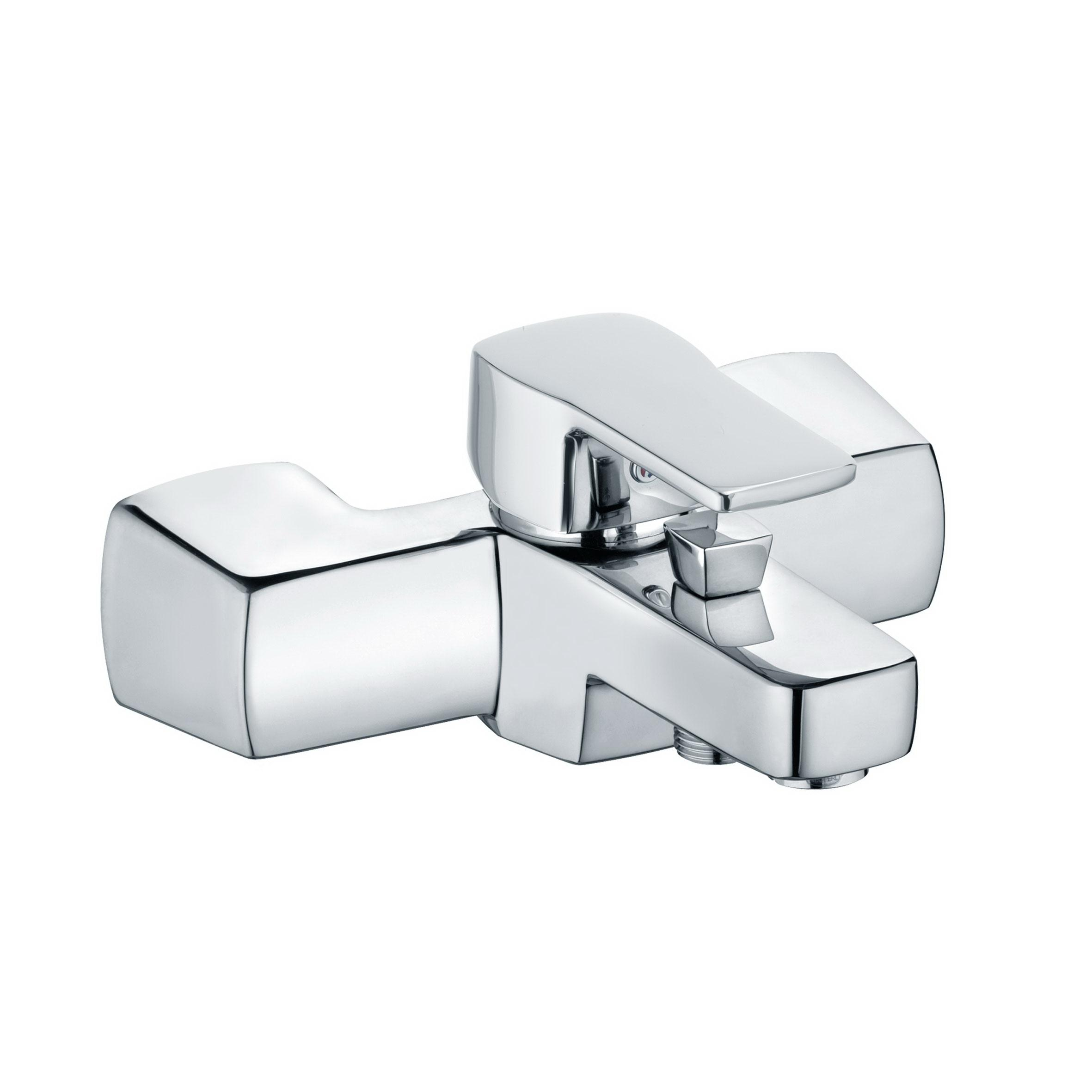 Смеситель для ванны с душем Kludi Q-beo 504430565 смеситель для кухни однорычажный с выдвижной лейкой kludi l ine 428210577