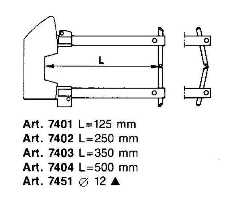 Комплект плеч Tecna 7404