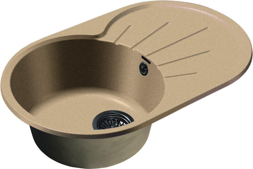 Мойка кухонная Granfest Rondo gf-r--750l песок мойка кухонная granfest гранит 650x500 чаша крыло gf r650l песок