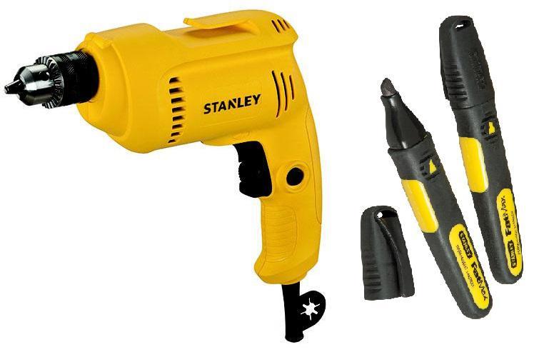 Набор Stanley Дрель stdr5510-b9 +Маркер ''fatmax'' 0-47-314 точило stanley stgb3715 b9