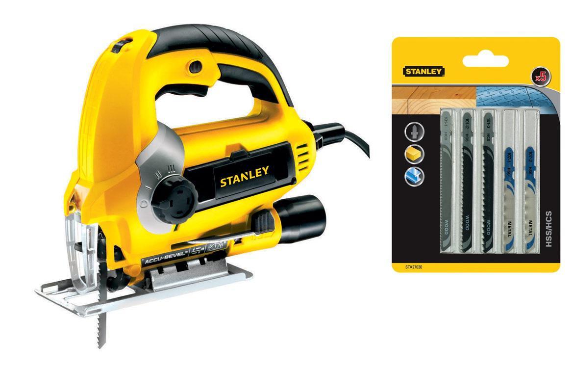 Набор Stanley Лобзик stsj0600-b9 +Пилки для лобзика sta27030-xj точило stanley stgb3715 b9